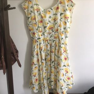 New Anthropologie summer Fit and Flare Dress Large